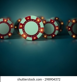 Set casino chips, eps 10