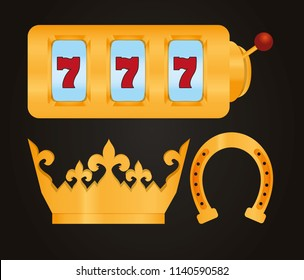Set of casino elements