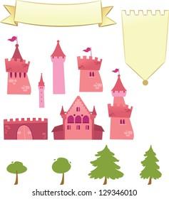 Set of Castle Design Elements