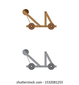 a set of catapult icons