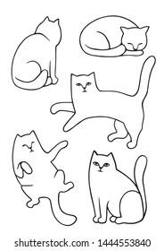 Sitting Cat Drawing Images, Stock Photos \u0026 Vectors