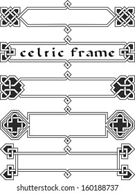 Set celtic frame an element of design in the Irish style - vector