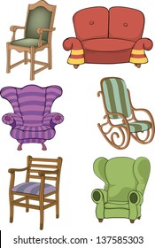 Set of chairs and armchairs