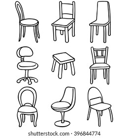 Set of chairs. Set of simple line drawings  sc 1 st  Shutterstock & Chair Drawing Stock Vectors Images u0026 Vector Art | Shutterstock