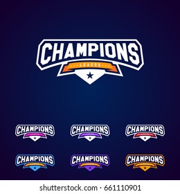 Champion logo images stock photos vectors shutterstock set of the champion sports league logo emblem badge graphic with star altavistaventures Gallery