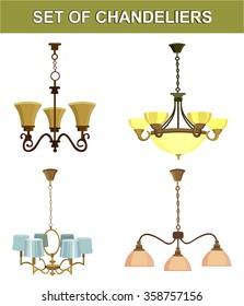 set of chandeliers