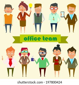 set characters for use in design. office team. vector.
