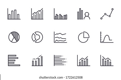 Set of Chart vector icon illustration