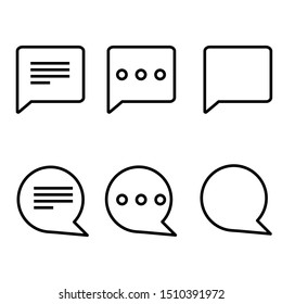 Set of Chat Bubble Line Icons.Line chat icons for flat design.