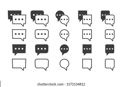 Set of chat bubbles icons. Vector illustration in flat design