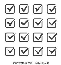 set of checkbox icons