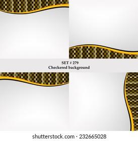 Eps10 Set Of Checkered Vector Flag Background Sport