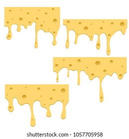 A set of cheese samples on a white background. This creativity will bring success in your business project. Vector illustration