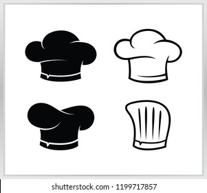 Set chef hat logo. cheaf  hat vector design template