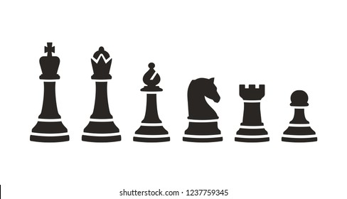 Set of chess icon sign symbol