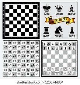 set of chess piece element, winner and looser concept, in a fair game. easy to modify
