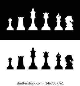 A set of chess piece icons in vector format.