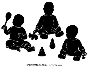 SET with child playing with toys.