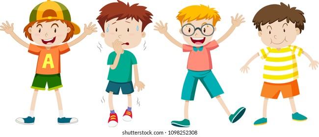 A Set of Children Expression illustration
