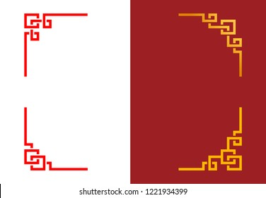 chinese ornaments images stock photos vectors shutterstock https www shutterstock com image vector set chinese corner linear style vector 1221934399