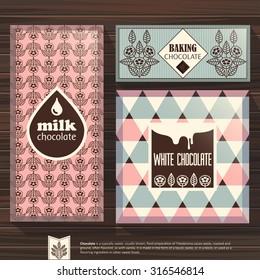 Set chocolate packaging. Patterns