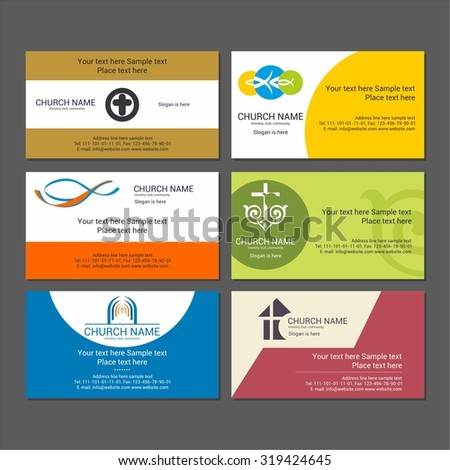 Set christian business cards church ministry stock vector royalty set christian business cards for the church the ministry the club and the accmission Image collections
