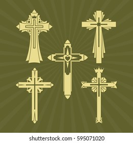 A set of Christian crosses.