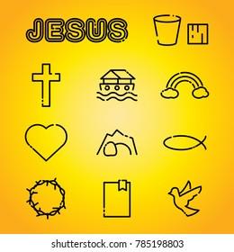 A set of Christian faith religion icons illustration. Vector EPS 10 available.