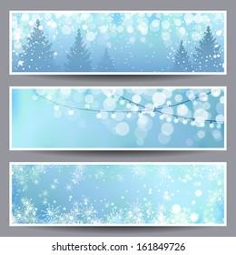 Set of Christmas Banners. Vector illustration, eps10.