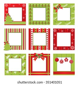 Set of Christmas border,vector christmas pattern, christmas frame picture