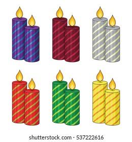 Set of Christmas candles