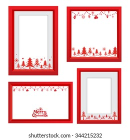 Set of Christmas frames,vector christmas border, christmas frame picture