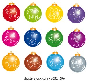 Set of Christmas and New Year's balls