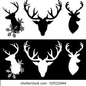 set of Christmas reindeer