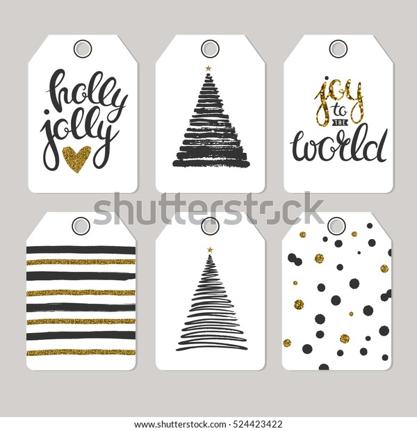 photo relating to Printable Tags for Gifts identify Fastened Xmas Tags Delivers Items Vector Inventory Vector