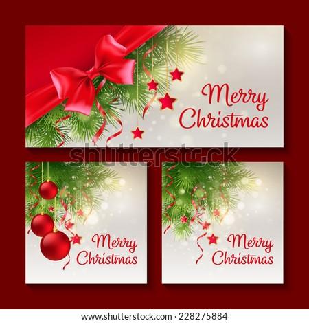 Set Christmas Templates Print Web Design Stock Vector Royalty Free