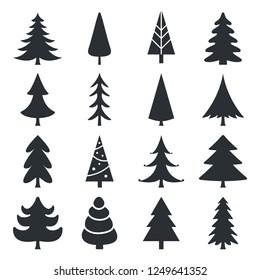 Set of Christmas trees - Illustration