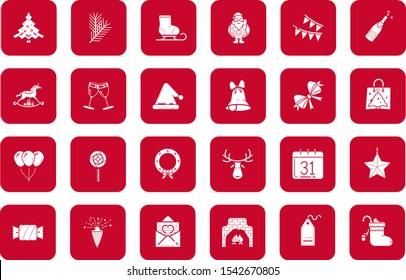 Set of christmas vector icons .