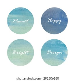 Set of circle banners. Vector illustration.white and blue light color.Vintage logo