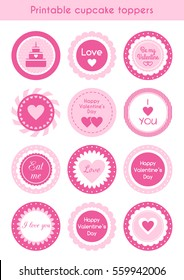 Printable Cupcake Toppers Images Stock Photos Vectors Shutterstock