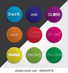 Set of circle vector shapes. Abstract vector banners. Design elements. Polygonal texture