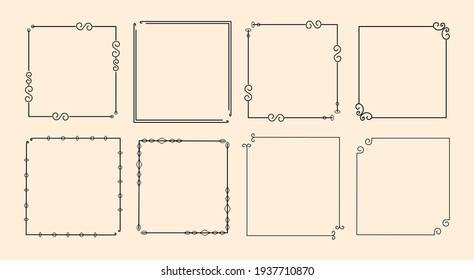 Set of Classic calligraphic ornamental decorative frame