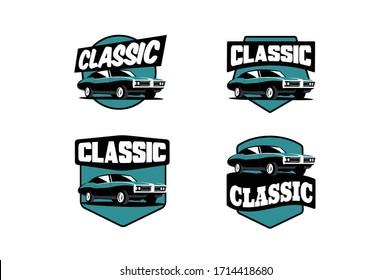 Set of Classic Car Logos and Emblems