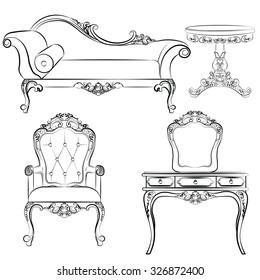 Luxury Sofa Chair Stock Vectors Images Vector Art