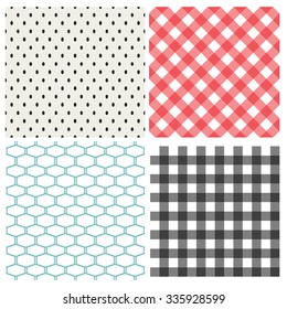 Set of classic seamless pattern, vector texture