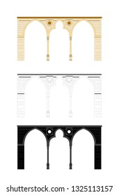 Set of Classic Stone Arch - Illustration Isolated Icon