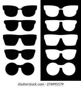 Set of classic vector glasses
