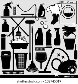 Set of clean icon