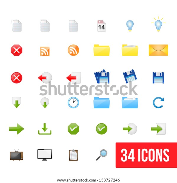 Set of clean vector web icons