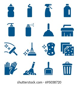 Set of cleaning tools icons. Vector illustration